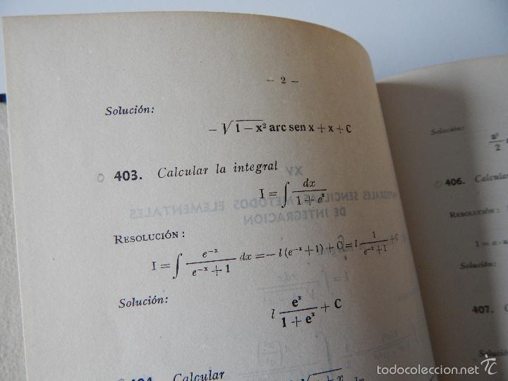 Libros de segunda mano de Ciencias: Mil problemas de cálculo infinitesimal. Segunda parte. Cálculo integral - José Luis Mataix Plana - Foto 11 - 103492511