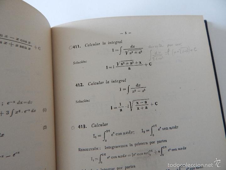 Libros de segunda mano de Ciencias: Mil problemas de cálculo infinitesimal. Segunda parte. Cálculo integral - José Luis Mataix Plana - Foto 12 - 103492511