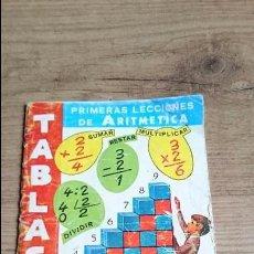 Libros de segunda mano de Ciencias: TABLAS PRIMERAS LECCIONES ARITMÉTICA 1980. Lote 55318160