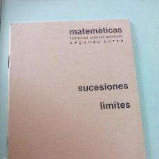 Libros de segunda mano de Ciencias: CUADERNO BARREIRO-RUBIO. MATEMATICAS. SUCESIONES LÍMITES. SEGUNDO CURSO. CUADERNILLO, LIBRETA.. Lote 56053912