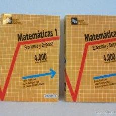 Libros de segunda mano de Ciencias: MATEMATICAS 1. ECONOMIA Y EMPRESA. TOMO I Y II. EMILIO PRIETO. JULIAN RODRIGUEZ RUIZ. M.PALOMA GOMEZ. Lote 56235396