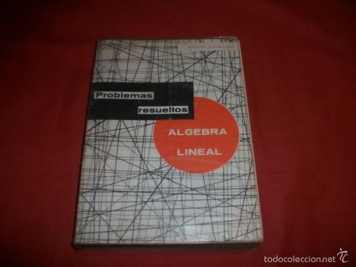 PROBLEMAS RESUELTOS ÁLGEBRA LINEAL - ALBERTO LUZARRAGA (Libros de Segunda Mano - Ciencias, Manuales y Oficios - Física, Química y Matemáticas)