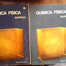 Libros de segunda mano de Ciencias: QUIMICA FISICA DE GORDON M. BARROW. 2ª EDICION 1968. 2 TOMOS. Lote 56340804