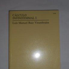 Libros de segunda mano de Ciencias: CÁLCULO INFINITESIMAL I - RUIZ VIRUMBRALES, LUIS MANUEL. TDK277. Lote 56348229