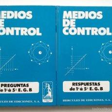 Libros de segunda mano de Ciencias: MEDIOS DE CONTROL - PREGUNTAS Y RESPUESTAS DE 1º A 5º DE EGB - EDICIONES HERCULES - MATEMATICAS. Lote 56810180