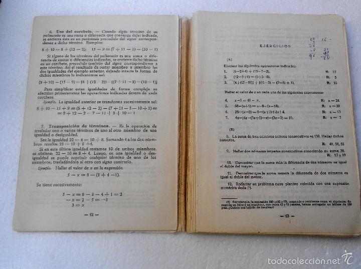 Libros de segunda mano de Ciencias: Libro de Algebra - Foto 2 - 56934896