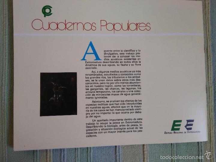 Libros de segunda mano: EL MEDIO ACUATICO EN EXTREMADURA. Alfonso J. Rodríguez Jiménez. Cuadernos Populares, nº 40 - Foto 2 - 56995014