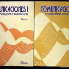 Libros de segunda mano de Ciencias: COMUNICACIONES I Y II / SEÑALES, MODULACION Y TRANSMISION / COMUNICACIÓN DIGITAL Y RUIDO - HERRERA . Lote 57143787