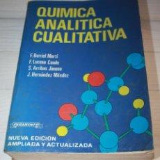 Libros de segunda mano de Ciencias: QUIMICA ANALITICA CUALITATIVA. Lote 57282839