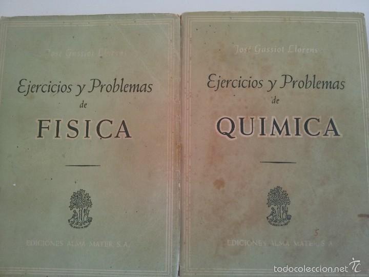 EJERCICIOS Y PROBLEMAS DE FISICA. EJERCICIOS Y PROBLEMAS DE QUIMICA (Libros de Segunda Mano - Ciencias, Manuales y Oficios - Física, Química y Matemáticas)