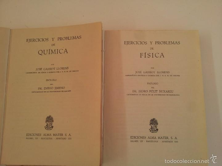 Libros de segunda mano de Ciencias: EJERCICIOS Y PROBLEMAS DE FISICA. EJERCICIOS Y PROBLEMAS DE QUIMICA - Foto 2 - 57484284