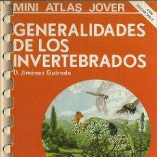 Libros de segunda mano: GENERALIDADES DE LOS INVERTEBRADOS.MINI ATLAS JOVER.1981.. Lote 57630670