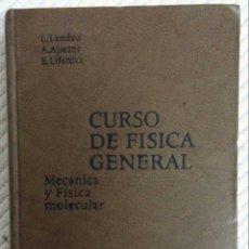 Libros de segunda mano de Ciencias: CURSO DE FÍSICA GENERAL. MECÁNICA Y FÍSICA MOLECULAR. - LANDAU, L. - AJIEZER, A. - LIFSHITZ, E.. Lote 57651575