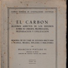 Libros de segunda mano: EL CARBÓN. TOMO III. (FCO. PINTADO FE 1951) SIN USAR.. Lote 57682095