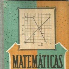Libros de segunda mano de Ciencias: MATEMÁTICAS. TERCER CURSO. EDITORIAL LUIS VIVES. ZARAGOZA. 1964. Lote 57703883