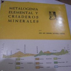 Libros de segunda mano: METALOGÉNIA ELEMENTAL Y CRIADEROS MINERALES. JOSÉ LUIS JORDANA.. Lote 57799472