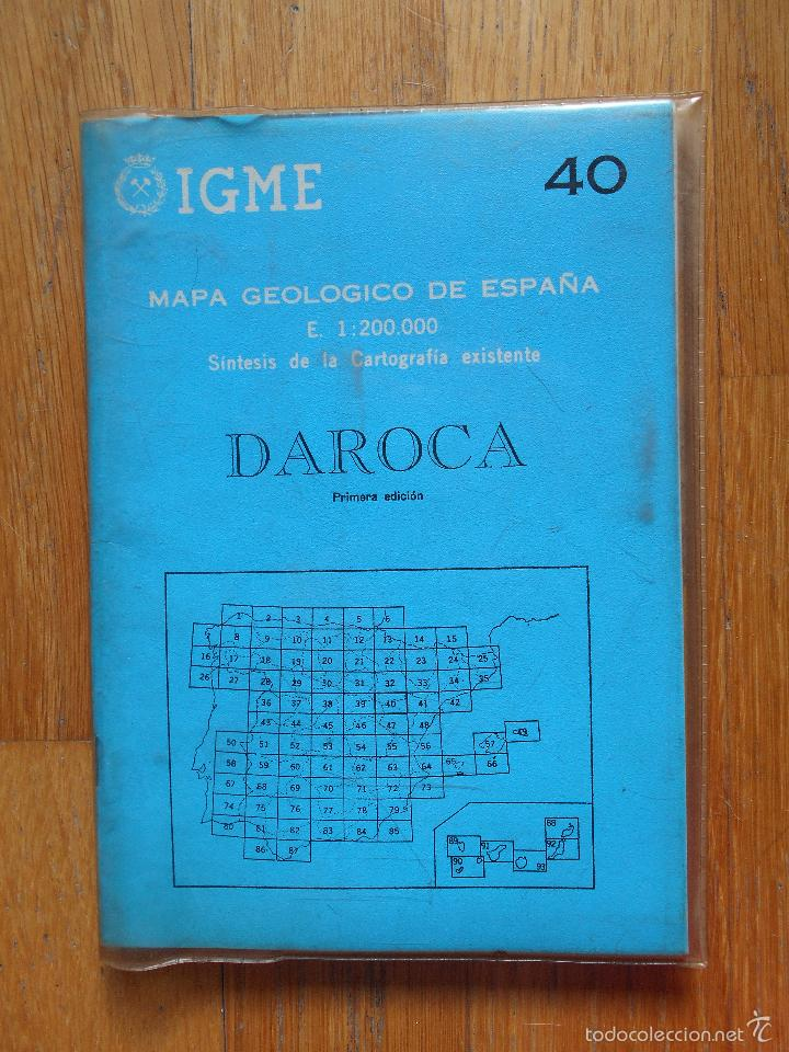 IGME, MAPA GEOLOGICO DE ESPAÑA, DAROCA ,NUMERO 40, PRIMERA EDICION (Libros de Segunda Mano - Ciencias, Manuales y Oficios - Paleontología y Geología)