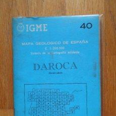 Libros de segunda mano: IGME, MAPA GEOLOGICO DE ESPAÑA, DAROCA ,NUMERO 40, PRIMERA EDICION. Lote 57823456