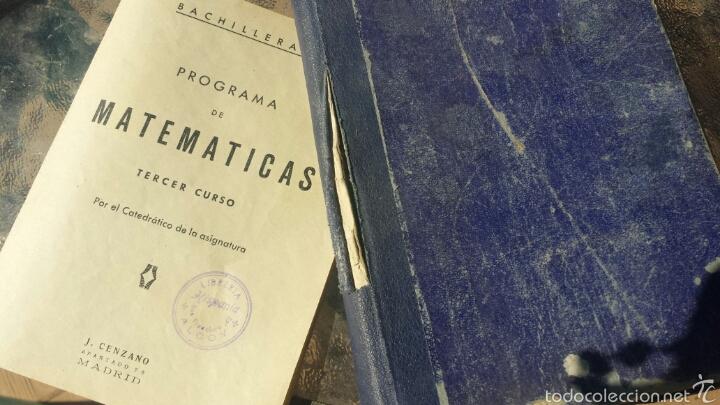 MATEMATICAS TERCER CURSO BACHILLERATO. ARITMETICA. PLAN 1957 (Libros de Segunda Mano - Ciencias, Manuales y Oficios - Física, Química y Matemáticas)