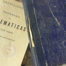 Libros de segunda mano de Ciencias: MATEMATICAS TERCER CURSO BACHILLERATO. ARITMETICA. PLAN 1957 . Lote 57871316