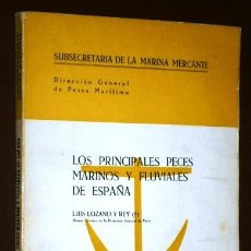 Libri di seconda mano: LOS PRINCIPALES PECES MARINOS Y FLUVIALES DE ESPAÑA POR LUIS LOZANO REY, GRÁFICAS ARAGÓN MADRID 1964. Lote 57992763