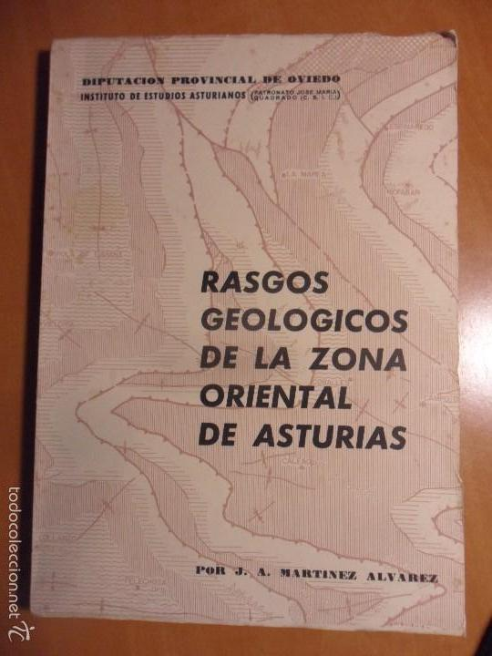 RASGOS GEOLOGICOS DE LA ZONA ORIENTAL DE ASTURIAS. POR J.A. MARTINEZ ALVAREZ. DIPUTACION PROVINCIAL (Libros de Segunda Mano - Ciencias, Manuales y Oficios - Paleontología y Geología)