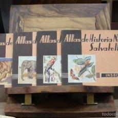Libros de segunda mano: ATLAS DE HISTORIA NATURAL SALVATELLA. 4 VOLS. 1949. PRIMERA EDICIÓN.. Lote 58108934