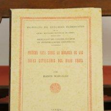 Libros de segunda mano: 7842 - PRIMERA NOTA SOBRE LA BIOLOGÍA DE LAS AGUAS ESTANCADAS DEL BAJO URGEL. 1945.. Lote 58238481