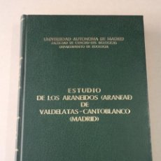Libros de segunda mano: ARAÑAS - ESTUDIO DE LOS ARANEIDOS DE VALDELATAS-CANTOBLANCO (MADRID) - MANUEL F. CAMARGO ALAMINOS. Lote 58246438