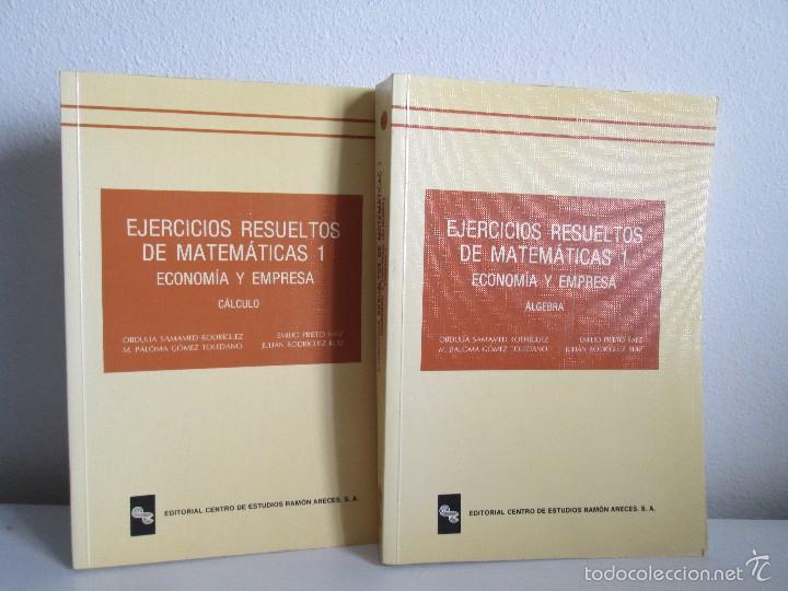 ejercicios resueltos de matematicas 1 economia - Comprar Libros de ...