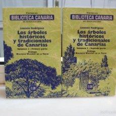 Libros de segunda mano: LOS ARBOLES HISTORICOS Y TRADICIONALES DE CANARIAS, LEONCIO RODRIGUEZ. VOLUMEN I.CANARIAS 2001. Lote 167758748