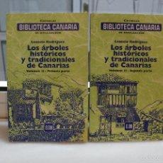 Libros de segunda mano: LOS ARBOLES HISTORICOS Y TRADICIONALES DE CANARIAS, LEONCIO RODRIGUEZ. VOLUMEN II. CANARIAS 2001. Lote 167758870