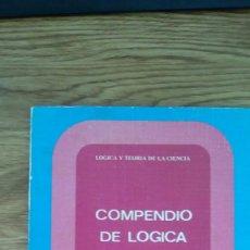 Libros de segunda mano de Ciencias: COMPENDIO DE LÓGICA MATEMÁTICA. BOCHENSKI. Lote 58583258