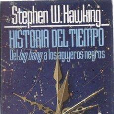 Libros de segunda mano de Ciencias: STEPHEN W, HAWKING, HISTORIA DEL TIEMPO, DEL BIGBANG A LOS AGUJEROS NEGROS. ALIANZA EDITORIAL.. Lote 58594288