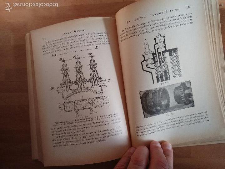 Libros de segunda mano de Ciencias: La Central Termoeléctrica. Calderas. Turbinas a vapor. Motores Diesel (1945) - James Wirth - Foto 7 - 58599439