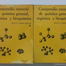 Libros de segunda mano de Ciencias: COMPENDIO ESENCIAL DE QUÍMICA GENERAL, ORGÁNICA Y BIOQUIMICA - ROUTH / EYMAN / BURTON - ED. REVERTE. Lote 59238630