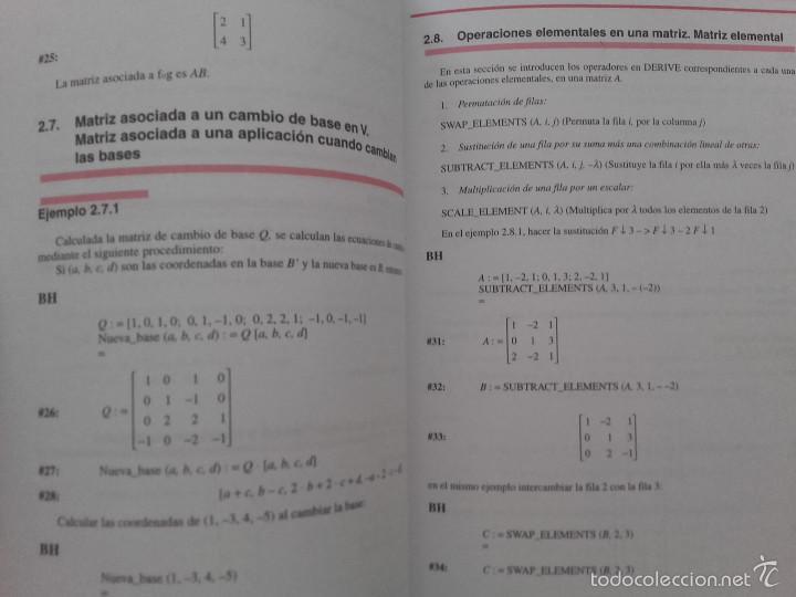 Libros de segunda mano de Ciencias: ALGEBRA LINEAL BASICA / ADDENDA ALGEBRA LINEAL BASICA - ED. SANZ Y TORRES - MATEMATICAS - Foto 7 - 59288780