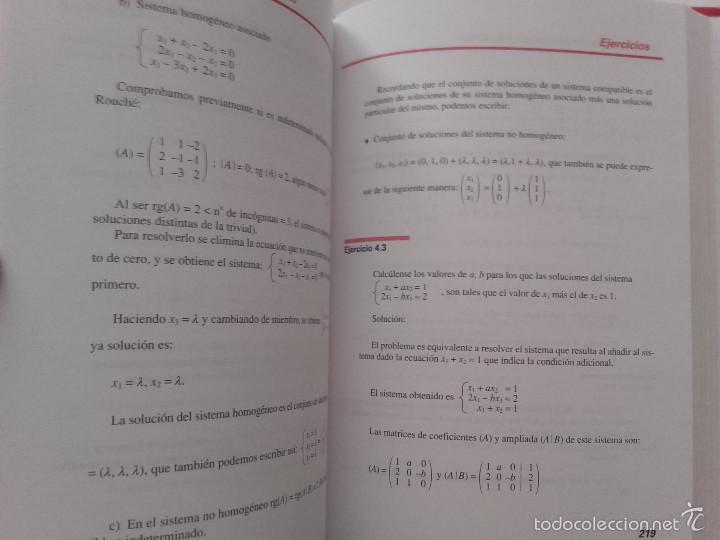 Libros de segunda mano de Ciencias: ALGEBRA LINEAL BASICA / ADDENDA ALGEBRA LINEAL BASICA - ED. SANZ Y TORRES - MATEMATICAS - Foto 8 - 59288780
