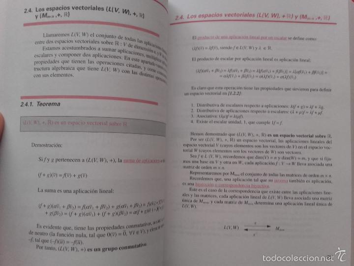 Libros de segunda mano de Ciencias: ALGEBRA LINEAL BASICA / ADDENDA ALGEBRA LINEAL BASICA - ED. SANZ Y TORRES - MATEMATICAS - Foto 10 - 59288780
