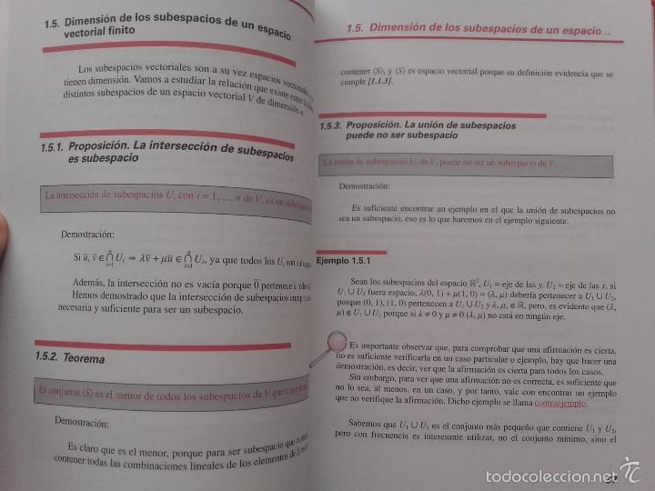 Libros de segunda mano de Ciencias: ALGEBRA LINEAL BASICA / ADDENDA ALGEBRA LINEAL BASICA - ED. SANZ Y TORRES - MATEMATICAS - Foto 11 - 59288780
