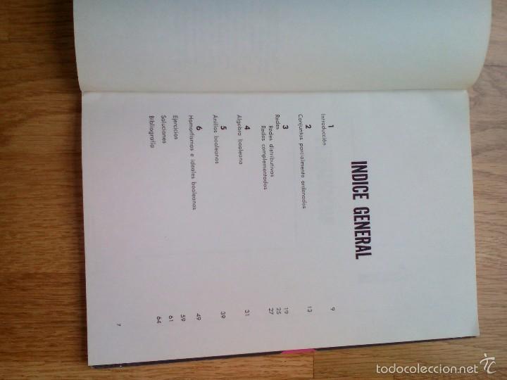 Libros de segunda mano de Ciencias: CONCEPTOS FUNDAMENTALES DE ÁLGEBRA BOOLEANA / ARTURO GROGORI - Foto 4 - 59912391