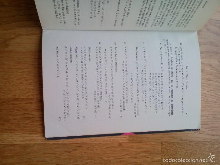 Libros de segunda mano de Ciencias: CONCEPTOS FUNDAMENTALES DE ÁLGEBRA BOOLEANA / ARTURO GROGORI - Foto 5 - 59912391