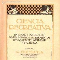 Libros de segunda mano de Ciencias: ESTALELLA : CIENCIA RECREATIVA (GILI, S.F.). Lote 59977359