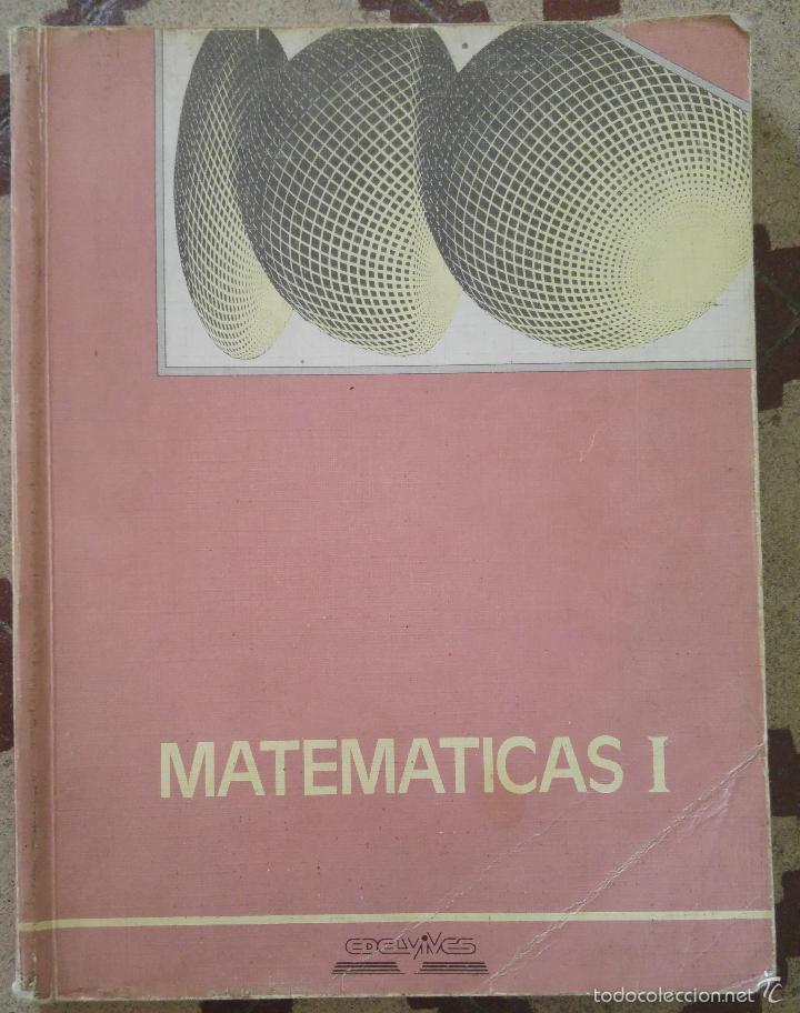 MATEMÁTICAS I EDELVIVES (Libros de Segunda Mano - Ciencias, Manuales y Oficios - Física, Química y Matemáticas)