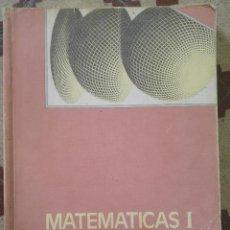 Libros de segunda mano de Ciencias: MATEMÁTICAS I EDELVIVES. Lote 60392051
