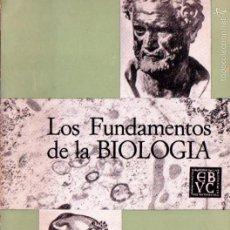 Libros de segunda mano: AUGUSTO PI SUÑER : LOS FUNDAMENTOS DE LA BIOLOGÍA (CARACAS, 1965) COMO NUEVO. Lote 61086491