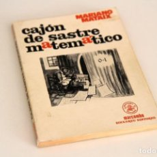 Libros de segunda mano de Ciencias: MARIANO MATAIX LORDA. CAJÓN DE SASTRE MATEMÁTICO. MARCOMBO, BARCELONA, 1981. Lote 61450799