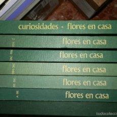 Libros de segunda mano: FLORES EN CASA,ENCICLOPEDIA PRACTICA DE LA JARDINERIA, 7 TOMOS, Y GRAN LIBRO DE PLANTAS Y FLORES.. Lote 61497875