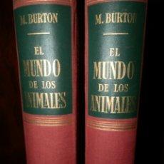 Libros de segunda mano: EL MUNDO DE LOS ANIMALES M.BURTON,LABOR,1955, DOS VOL. TELA, 893 PP. 28X20. Lote 61498827