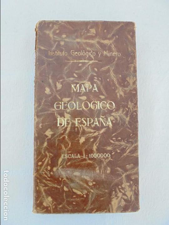 Libros de segunda mano: MAPA GEOLOGICO DE ESPAÑA. ESCALA 1: 1000000. DESPLEGABLE ENTELADO. INSTITUTO GEOLOGICO Y MINERO. - Foto 7 - 61535240